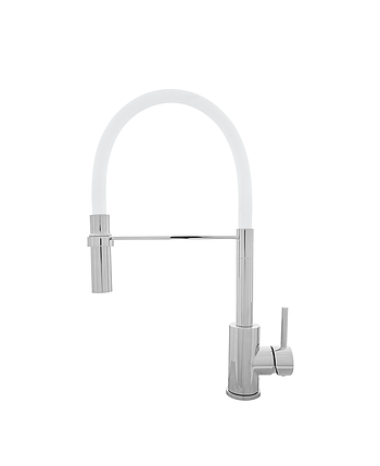 Kernau KWT 20 PO CHROME/WHITE смеситель для кухни с душем (сталь/хром/белый), фото 2