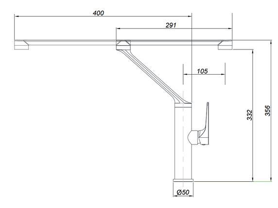 Kernau KWT 21 CHROME смеситель высокий для раковины на кухню (сталь/хром), фото 2