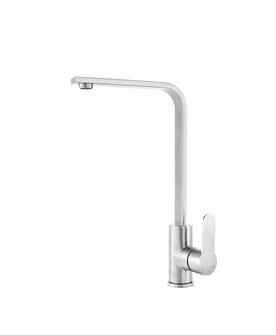 Kernau KWT 22 STEEL высокий смеситель для кухни (сталь/хром)