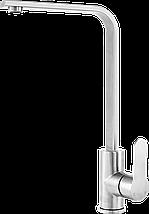 Kernau KWT 22 STEEL высокий смеситель для кухни (сталь/хром), фото 2