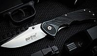 Нож складной с мощным и прочным клинком, с массивной фурнитурой, накладки рукояти из материала G-10, фото 1
