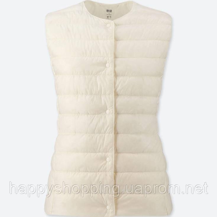 Женская белая жилетка на пуху Uniqlo