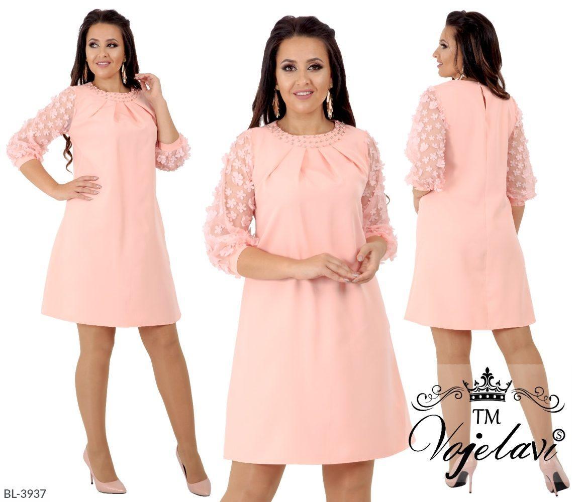 Нарядное платье  (размеры 48-54) 0202-27