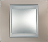 Рамка 1 пост. Unica Top оникс медный/алюминий MGU66.002.096