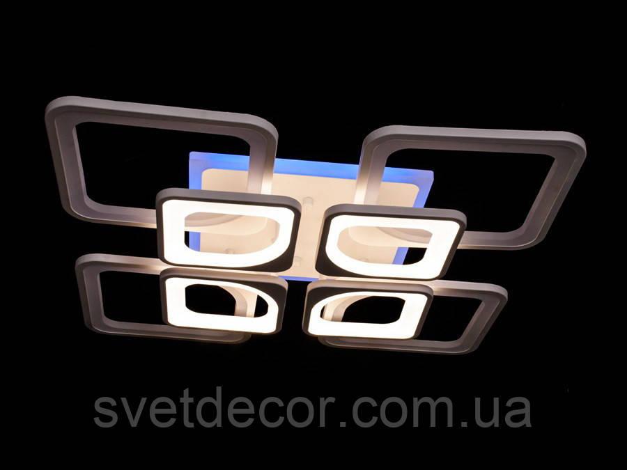 Люстра светодиодная потолочная Led 8060/4+4 dimmer с пультом подсветка светодиодная