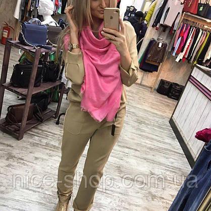 Платок Louis Vuitton ярко-розовый, фото 3