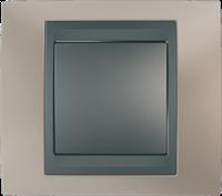 Рамка 1 пост. Unica Top оникс медный/графит MGU66.002.296