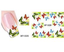 Наклейки для ногтей с бабочками