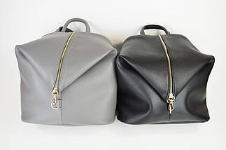 Рюкзак кожаный серый Voila 1884068, фото 3