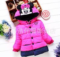 Курточка для девочек Minnye синтепон + мех, деми 7453
