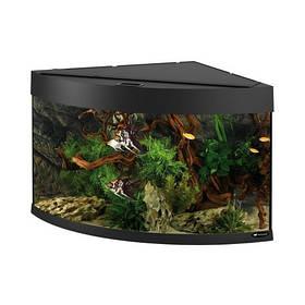 Угловой аквариум Ferplast Dubai Corner 90 Black с LED-освещением, 180 л