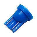 Автолампа диодная T10-5050-1smd, комплект 10 шт, W5W, T10, цвет свечения синий, фото 3