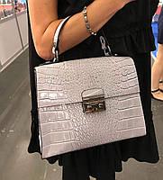 Женская Кожаная сумка реплика сумка Валентино в натуральной коже Италия  Итальянская