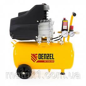 Компрессор пневматический, 1,5 кВт, 206 л/мин, 24 л// DENZEL