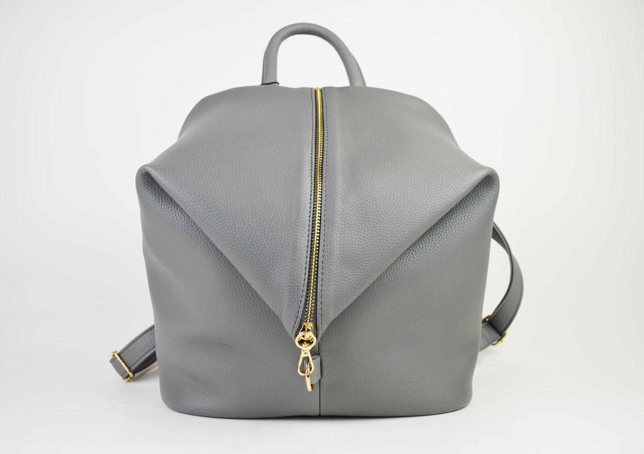 Рюкзак кожаный серый Voila 1884068