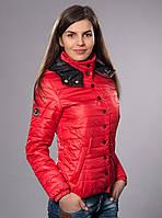 Женская молодежная демисезонная куртка цвет красный