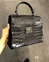 Кожаная женская сумка реплика сумка Валентино в натуральной коже Италия  Итальянская, фото 1