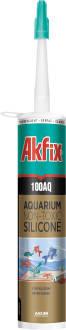 Герметик аквариумный силиконовый Akfix 100AQ черный (310 ml), фото 2
