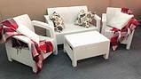 Набор садовой мебели Corfu Set White ( белый ) из искусственного ротанга ( Allibert by Keter ), фото 5