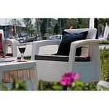 Набір садових меблів Corfu Set White ( білий ) з штучного ротанга ( Allibert by Keter ), фото 10