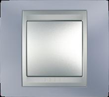 Рамка 1 пост. Unica Top берилл/алюминий MGU66.002.098
