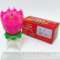 """Свеча для торта """"Flower Candle"""" музыкальная 13см"""