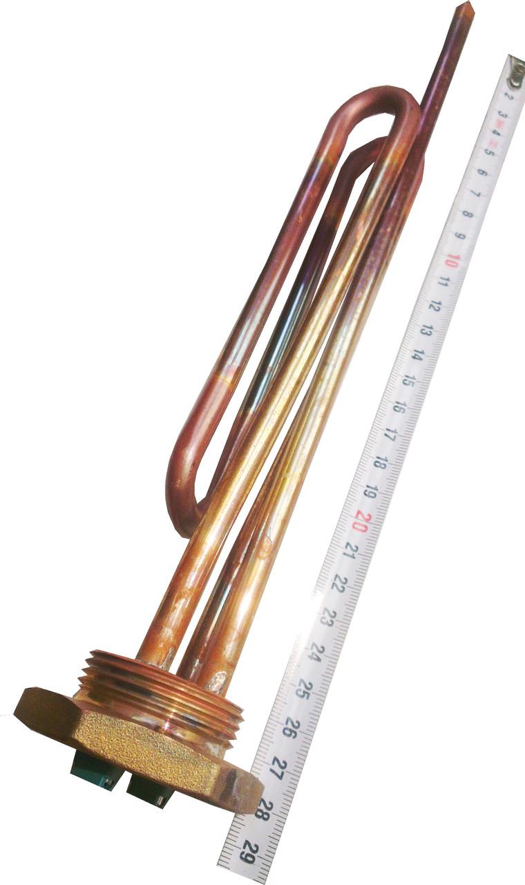 """ТЭН ИТАЛЬЯНСКИЙ на резьбе-1\4"""" мощностью  2,0 кВт (2000 Вт) с трубкой под терморегулятор"""