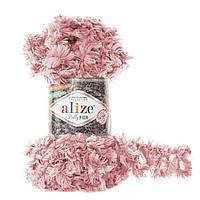 Пряжа с петлями для вязания руками Alize Puffy Fur 6102 (нитки с петельками Ализе Пуффи Фер Фур)