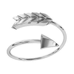 Кольцо  женское серебряное Стрела