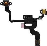 Шлейф для iPhone 4, 4G с кнопкой включения, датчиком приближения и микрофоном