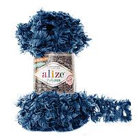 Пряжа с петлями для вязания руками Alize Puffy Fur 6114 (нитки с петельками Ализе Пуффи Фер Фур)