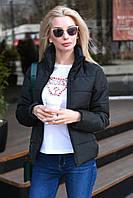 Куртка женская осенняя пудра красный чёрный 42-44, 44-46, 46-48, фото 1