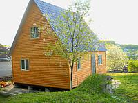Дачный домик 6м х 6м.Блокхаус.С мансардой, фото 1