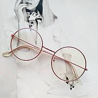 Круглые имиджевые очки тишейды  с анти блик №3 Розовый