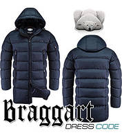 Куртка удлиненная зимняя мужская Braggart Dress Code - 2041B темно-синяя
