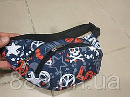 Поясная сумка принт мужская/женская, бананка, сумка через плече, барсетка, молодежная, барсетка, сумка на пояс