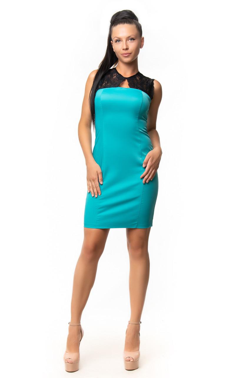 Эффектное платье с гипюром (42-46)