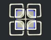 Led люстра RGB потолочная цвет каркаса белый чёрный, фото 1