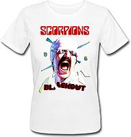Женская футболка Scorpions Blackout - Album (белая)