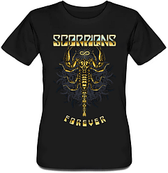Женская футболка Scorpions - Forever (чёрная)