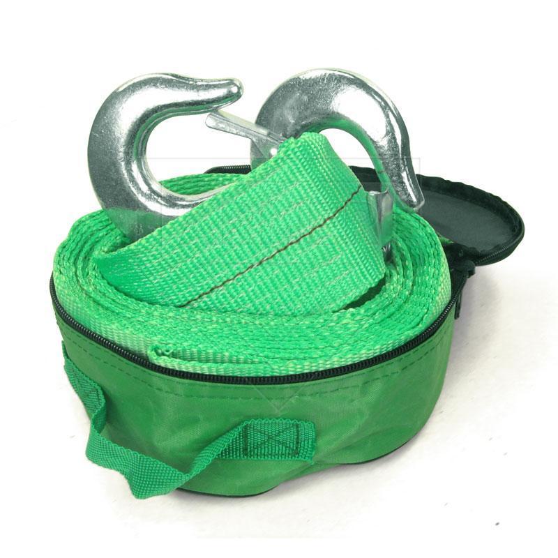 Трос буксировочный 8 т 5,0м зеленый / крюк / сумка /75мм Armer ARM-85