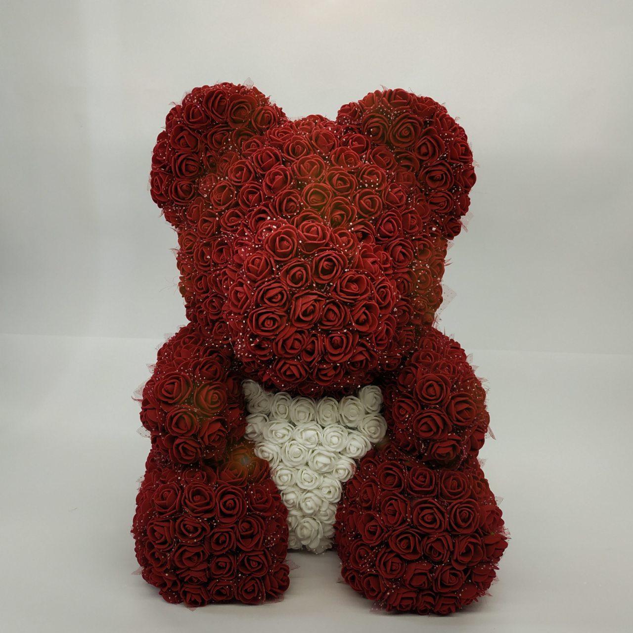 """Мишка из роз """"RED"""" 40см"""