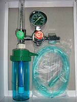 Увлажнитель кислорода  Y006 для кислородной магистрали 15 л/мин с расходомером, евроразъемом