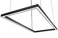 Светодиодный светильник прямоугольный, подвесной, накладной, профильный ,офисный  2500k-6000k 25-500 вт, фото 1