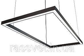 Светодиодный светильник прямоугольный, подвесной, накладной, профильный ,офисный  2500k-6000k 25-500 вт