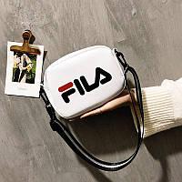 Маленькая женская сумочка FILA белая, фото 1