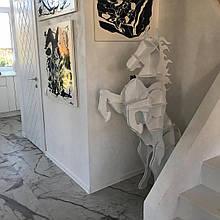 Мебель из натуральных материалов Мустанг. Полка 3D (Белая)