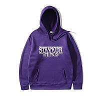 Худи Stranger Things толстовка фиолетовая