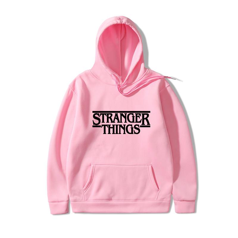 Худи Stranger Things толстовка розовая