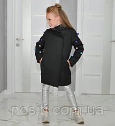 Детское пальто для девочки с панпонами